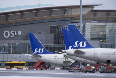 Scandinavian Airlines (SAS) reports a double-digit increase in passengers as does rival Norwegian. PHOTO: Oslo Lufthavn
