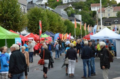 The southern coastal town of Arendal is filled this week with top politicians, business and labour leaders to debate issues and mingle with ordinary citizens. PHOTO: Arendalsuka