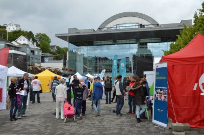 Some heavy rain this week also put a damper on events, but a major party leader debate was set for Thursday evening. PHOTO: Arendalsuka