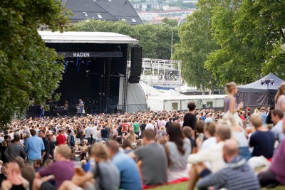 It rained on Saturday, and Bryan Ferry was among those who had to perform in some wet and windy weather, but otherwise the Øya festival enjoyed sunshine, sold-out crowds and good reviews. PHOTO: Øyafestivalen