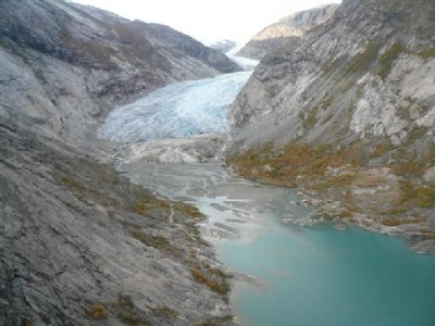 The Nigardsbreen (Nigard Gladier), has shrunk since this photo was taken in 2006 but remains a popular tourist attraction. PHOTO: Norges vassdrags- or energidirektorat
