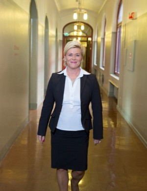 After a year in power, commentators agree that Finance Minister Siv Jensen of the once-shunned Progress Party has adapted well to her new role in the halls of power. PHOTO: Finansdepartementet