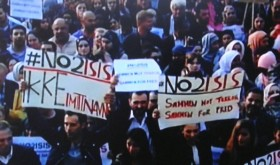 Thousands filled the plaza in front of Norway's Parliament on Monday to demonstrate against Islamic extremists. The demonstration was initiated by Norwegian Muslims who are horrified by violent extremists in Syria and Iraq and some local extremists who've supported them. State broadcaster NRK carried the demonstration on national TV. PHOTO: NRK screen grab/newsinenglish.no