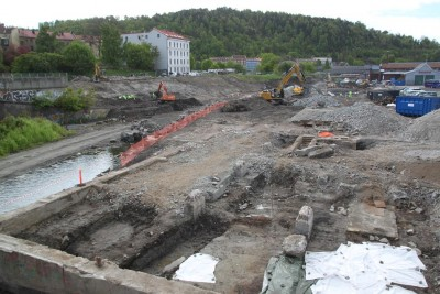 Archaeologists working in the area where the new Follo train line is being built have made more interesting discoveries. PHOTO: NIKU