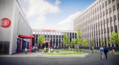 The new Blindern high school in Oslo is one of many schools opening this week in the Norwegian capital. ILLUSTRATION: Planforum Arkitekter