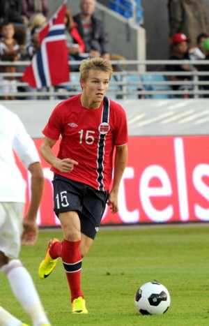 Martin Ødegaard played his first match on Wednesday for the national team, against the United Arab Emirates in Stavanger. The match ended 0-0 but the 15-year-old comet is under consideration for more national team matches. PHOTO: NTB Scanpix/Terje Pedersen