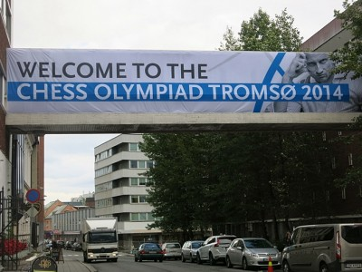The Chess Olympiad playing out in Tromsø has brought with it a tough campaign for the presidency of the international chess federation FIDE. PHOTO: Chess Olympiad 2014