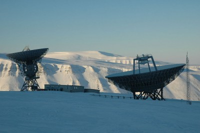 The EISCAT radar installation on Svalbard won't be getting a third antenna that China wanted to build. PHOTO: Wikipedia/Tom Grydeland