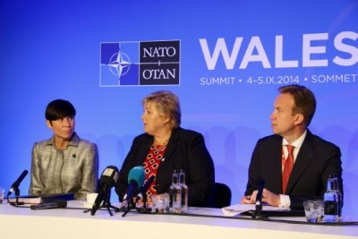 """Defense Minister Ine Eriksen Søreide (left) has called this week's NATO summit in Wales """"the most important"""" for a long time. At right, Prime Minister Erna Solberg and Foreign Minister Børge Brende. PHOTO: Forsvarsdepartementet"""