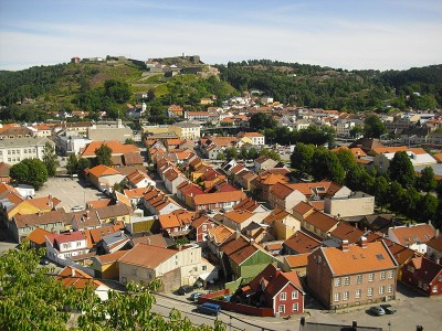 The historic city of Halden, located south of Oslo near the border to Sweden, is best known for its Fredriksten Fortress perched on the hillside. It also was the home for eight years of a man who became Norway's first suicide bomber. PHOTO: Wikipedia