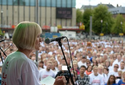 Ragnhild Lied, head of Norway's largest teachers' union, has initially accepted KS work hour demands but they were rejected by a vote of the teachers themselves. That set off the strike that began in June and expanded when school was supposed to start in mid-August. PHOTO: Utdanningsforbundet