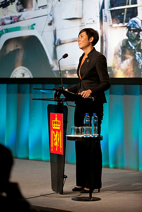 "Defense Minister Ine Eriksen Søreide believes Norway now faces a ""fundamentally different"" Russia. PHOTO: Forsvaret"