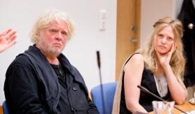 Artist Odd Nerdrum in court in Larvik with his wife, Turid Spildo. PHOTO: NTB Scanpix/Håkon Mosvold Larsen