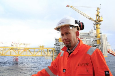 Oil & Energy Minister, shown here on the 40th anniversary last year of the Ekofisk oil field in the North Sea, is convinced that Norway's oil age is far from over. PHOTO: Olje- og energi departementet (OED)