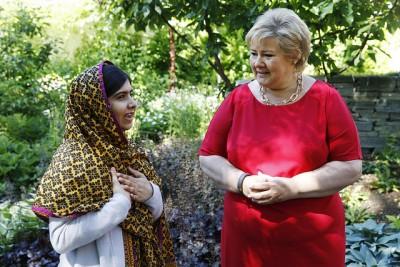 Malala Yousafzai was in Oslo recently and met with Prime Minister Erna Solberg, who herself has championed and backed more Norwegian funding for education for girls in Africa. PHOTO: Statsministerens kontor