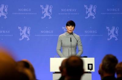 Defense Minister Ine Eriksen Søreide PHOTO: Forsvaret/Torbjørn Kjosvold
