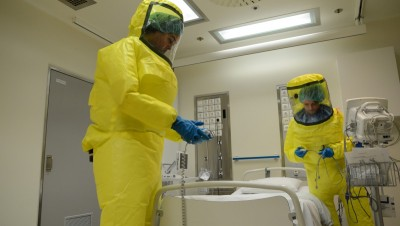Oslo University Hospital Ullevål released this photo earlier this month of the special high isolation ward where the ebola patient was being treated. PHOTO: Oslo Universitetssykehus/Anders Bayer