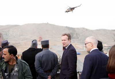 Norwegian Foreign Minister Børge Brende has been in Afghanistan before, but this weekend he met the country's new government and promised more aid to help push through new democratic reforms. PHOTO: Utenriksdepartementet