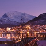 """Even though it's called """"the dark time"""" of the year, mid-winter can actually offer some of Norway's most spectacular light. Here's a photo of an early afternoon in Tromsø during what the Norwegians call """"mørketiden."""" PHOTO: Wikipedia"""