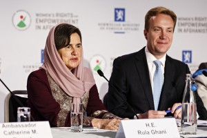 Afghan's new first lady, Rula Ghani, with Norwegian Foreign Minister Børge Brende. PHOTO: Utenriksdepartementet/Kilian Munch