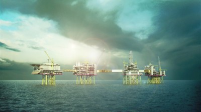 Norway's new Johan Sverdrup oil and gas field, located around 140 kilometers off Stavanger in the North Sea, represents a huge new source of wealth. Its environmental impact seems to be of secondary consideration. ILLUSTRATION: Statoil