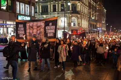 Thousands of Norwegians marched in cities all over the country last month, calling for the fur industry to be shut down after years of evidence of animal abuse. The industry, however, continues to survive. PHOTO: NOAH/Lars Nyland