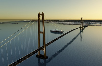 A second bridge is also under consideration between Moss and Horten. ILLUSTRATION:  SWECO