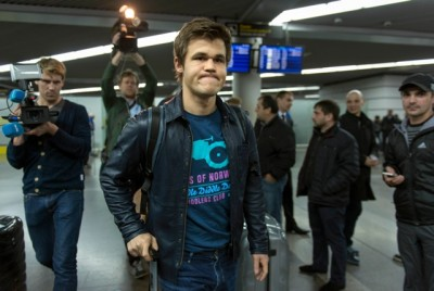 Norwegian chess champion Magnus Carlsen arrived in Sochi, Russia this week, determined to defend his World Championship title. PHOTO: AP Photo/Artur Lebedev/NTB Scanpix