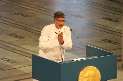 Just last week, Kailash Satyarthi was in Oslo to receive this year's Nobel Peace Prize for his promotion of children's rights. On Tuesday he was among the many condemning a Taliban attack on a school in Pakistan. PHOTO: Utenriksdepartementet/Marta B Haga