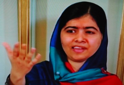 Malala Yousafzai claimed it was no burden to win a Nobel Peace Prize at the age of 17. Rather, she said, the prize gives her strength. PHOTO: NRK screen grab/newsinenglish.no