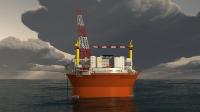 The Goliat FPSO (floating production, storage and offloading) platform destined for Eni's oil field off Hammerfest is finally getting ready to move into position but its profitability is a matter of debate. PHOTO: Eni Norge