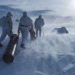 This winter's TV series about the battle over heavy water in Telemark during World War II has been a huge hit. Among the dramatic scenes are those filmed in the mountains after resistance fighters parachuted in with supplies from England and Scotland, to sabotage Norsk Hydro's plant in Vemork. PHOTO: Filmkameratene