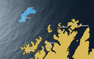 The Goliat oil field off the Norwegian coast near Hammerfest isn't the only  Arctic project under pressure because of low oil prices and environmental concerns. ILLUSTRATION: Eni Norge