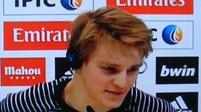Martin Ødegaard is now officially on Real Madrid's team and has moved to Spain. PHOTO: NRK screen grab/newsinenglish.no