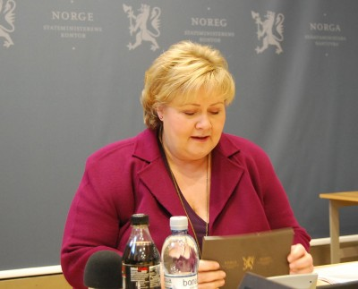 reading from her prepared text before answering questions