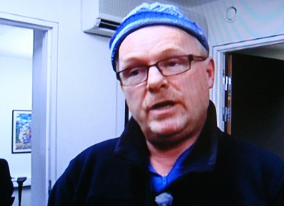 Per Sandberg, a deputy leader of the Progress Party, just before he launched into another noisy radio debate on NRK Thursday evening. PHOTO: NRK screen grab/newsinenglish.no