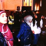 """An estimated 1,300 people formed a """"ring of peace"""" around the synagogue in Oslo on Saturday, at the initiative of young muslims. PHOTO: NRK screen grab/newsinenglish.no"""