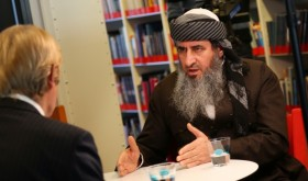 Mullah Krekar's comments during an interview with Norwegian Broadcasting (NRK) on Wednesday led to his re-arrest on Thursday evening. PHOTO: NRK screen grab