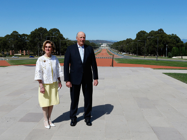 King Harald and Queen Sonja in Canberra, the Australian capital, this week. PHOTO: Kongehuset.no/NTB Scanpix/Lise Åserud
