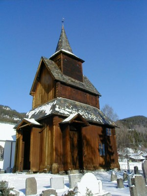 The Torpo stave church in the valley of Hallingdal, built around 1130, is on the list of those that may be forced to close for lack of operating funds. PHOTO: Wikipedia
