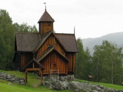 The Uvdal Stave Church in Numedal has a richly decorated interior from the 1600-1700s. PHOTO: Den Norske Kirken