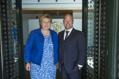 Prime Minister Erna Solberg seems to stsill be standing by her embattled justice minister, Anders Anundsen, also after a crushing report about his ministry's failure to improve emergency preparedness. PHOTO: Justis- og beredskapsdepartementet
