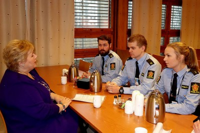 Prime Minister Erna Solberg earlier introduced proposals for police reform that now have been agreed on by a vast majority in the Parliament. PHOTO: Statsministerens kontor