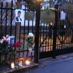 Nemtsov memorial outside Russian Embassy