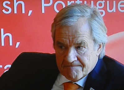 A pensive Norwegian chief executive Bjørn Kjos, at a press conference on Wednesday. After some contact with striking pilots in the night, hopes crashed for any settlement soon. PHOTO: newsinenglish.no