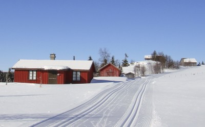 Holiday cabins in the mountains, like here near Kvitfjell, are more popular than ever, with prices up 6 percent so far this season. PHOTO: newsinenglish.no