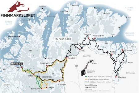 The annual dog sled race around Finnmark in northern Norway got underway on Saturday. MAP: Finnmarksløpet