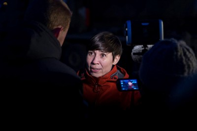 "Norwegian Defense Minister Ine Eriksen Søreide, who's in Finnmark to observe the Joint Viking exercises, told reporters that she and other Norwegian officials are ""closely following"" Russia's own exercises on the other side of the border. She's under pressure from military officers who claim they would not be able to defend Norway if war were to break out. PHOTO: Forsvaret/Kristian Kapelrud"