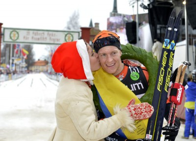 Norwegian skier Petter Eliassen was first to cross the finish line of the legendary Vasaloppet ski race in Sweden on Sunday. PHOTO: Vasaloppet