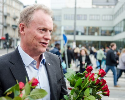 Raymond Johansen of the Labour Party was set to be a busy man on Friday, speaking at Labour Day events all day long. PHOTO: Arbeiderpartiet/Johannes Dalen Giske